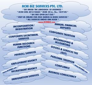 Various services provided by ACHI BIZ.