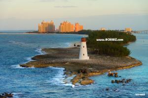 View of lighthouse at Bahamas Island