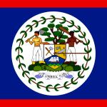 National flag of Belize Island