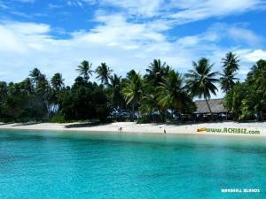 A beach view at The Marshall Islands