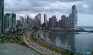 Water front city view of The Republic of Panama