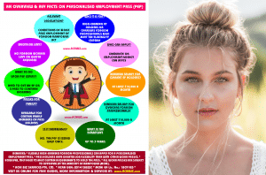 Personalised Employment Pass infographic with a beautiful girl