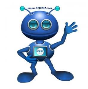 A robot saying hi